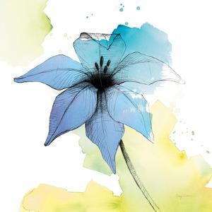 Watercolor Graphite Flower V by Avery Tillmon