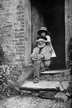 A Child with Her Grandfather, England, C1922 by AW Cutler