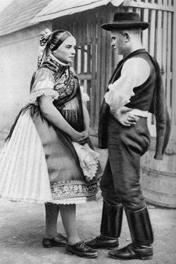 A Young Slovak Couple, Hungary, 1926 by AW Cutler