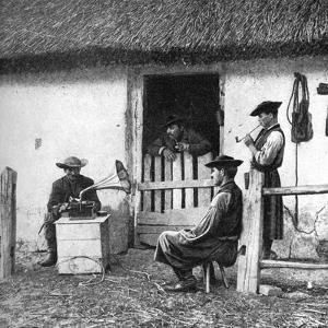 Leisure Time for Cowherds, Hungary, 1922 by AW Cutler