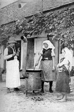 Making Jelly in Czinkota, Hungary, 1922 by AW Cutler