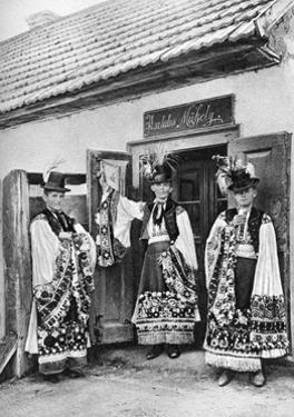 Young Priests in Costume in Rural Hungary, 1926 by AW Cutler