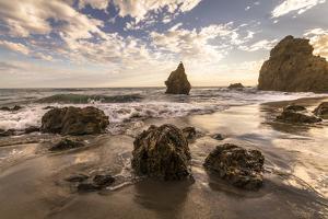 Beach, Malibu, California, USA: Famous El Matador Beach During Sunset In Summer by Axel Brunst