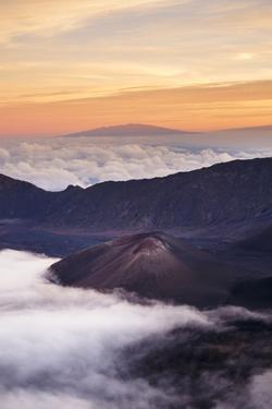 Haleakal? National Park, Maui, Hawaii, USA: View Over The Np From Kalahaku Overlook During Sunset by Axel Brunst