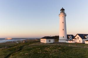 Hirtshals, Nordjylland, Denmark: Lighthouse & Campsite, Colorline Ferry From Norway In Harbour by Axel Brunst
