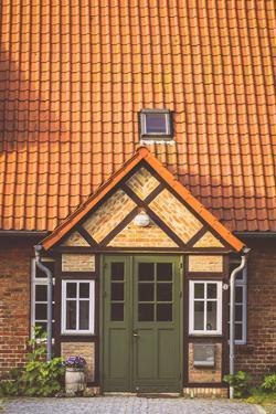 House Entrance Into Some Classic Northern German Brick Houses In Rerik, Germany by Axel Brunst