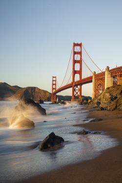 Marshall Beach, San Francisco, California, USA: Seascape Together With The Golden Gate Bridge by Axel Brunst