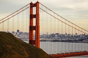 San Francisco, CA, USA: The Golden Gate Bridge Photographed From Conzelman Rd During Sunset by Axel Brunst