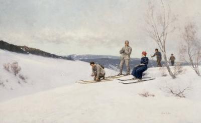 Skiing in Norway by Axel Ender