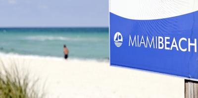 Beach Area, Near 83 Street, Miami South Beach, Atlantic Ocean, Florida, Usa by Axel Schmies