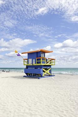 Beach Lifeguard Tower '35 St', Atlantic Ocean, Miami South Beach, Florida, Usa by Axel Schmies