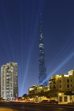 Burj Khalifa, the Highest Tower of the World, Night Photography by Axel Schmies