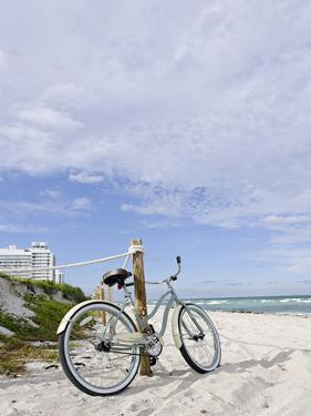 Cruiser Bicycle on the Beach, Miami South Beach, Art Deco District, Florida, Usa by Axel Schmies