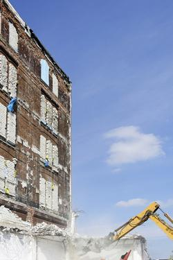 Demolition of Old Buildings, Shanghaiallee, Hafencity, Mitte, Hanseatic City of Hamburg, Germany by Axel Schmies