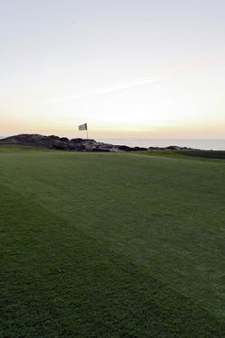 Golf Course, Green after Sunset, Praia D'El Rey, Marriott Golf and Beach Resort, Atlantic Coast by Axel Schmies