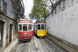 Historical Streetcars in the Alfama District, Lisbon, Portugal by Axel Schmies