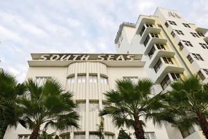 Hotel 'South Seas', Collins Avenue, Miami South Beach, Art Deco District, Florida, Usa by Axel Schmies