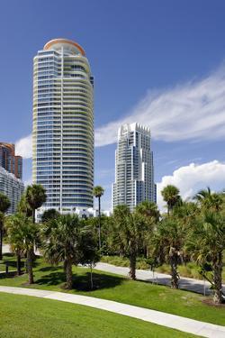 Modern High Rise, Tower in the South Pointe Park, Miami South Beach, Florida, Usa by Axel Schmies