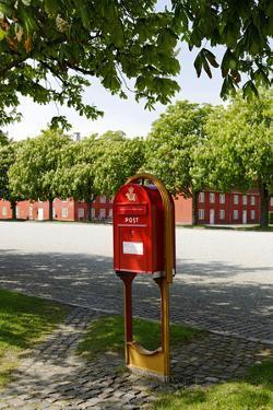 Red Mailbox, Copenhagen, Denmark, Scandinavia by Axel Schmies
