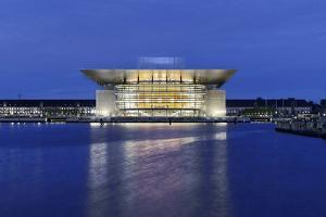 Royal Opera, Dusk, Copenhagen, Denmark, Scandinavia by Axel Schmies