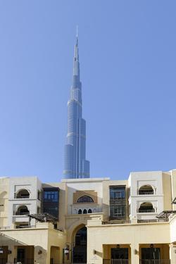 Souk Al Bahar and Burj Khalifa, Downtown Dubai, Dubai, United Arab Emirates by Axel Schmies