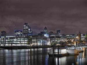 Southwark Bridge, City of London, the Thames, Night Photography, London, England, Uk by Axel Schmies