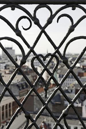 View Through a Grid, Round Tower, Rundetaarn, City, Copenhagen, Denmark, Scandinavia