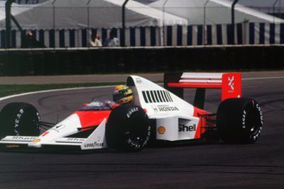 Ayrton Senna in the McLaren MP4-5 at 1989 British Grand Prix, Silverstone