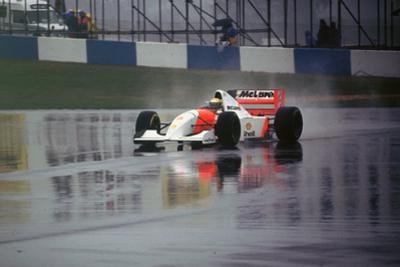 Ayrton Senna in the McLaren MP4-8 1993 European Grand Prix at Donington