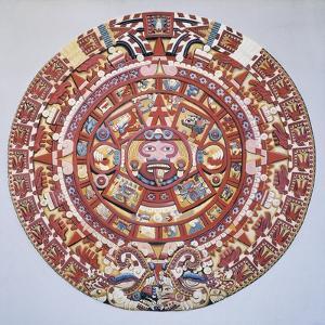"Aztec Calendar (1479), also Named ""Piedra Del Sol"" (Solar Stone) or ""Tonalpohualli"""