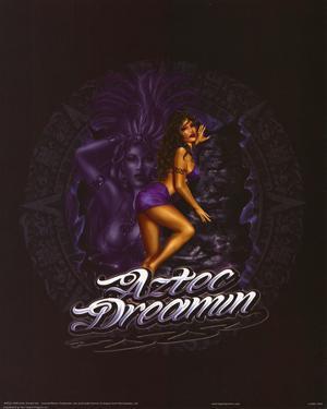 Aztec Dream Girl (Aztec Dreamin) Art Poster Print