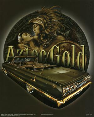 Aztec Gold (Embrace Over Car) Art Poster Print