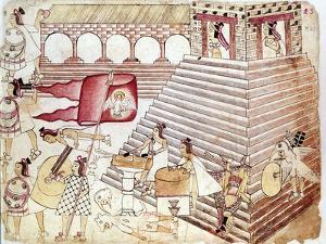 Aztec Warriors Defending the Temple of Tenochtitlan, Mexico