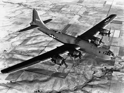 B-29 Flying over Japan's Countryside