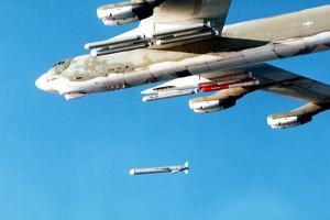 B-52 Aircraft Releasing an Tomahawk Air-Launched Cruise Missile, Dec. 6, 1979