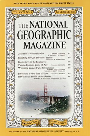 Cover of the December, 1959 National Geographic Magazine by B. Anthony Stewart