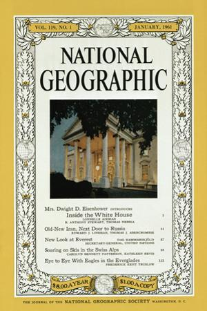 Cover of the January, 1961 National Geographic Magazine by B. Anthony Stewart