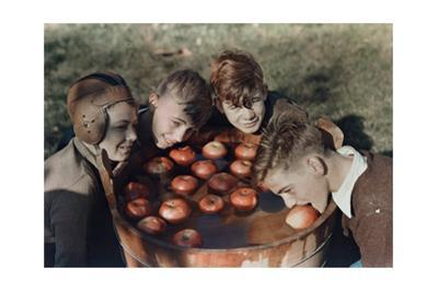 Four Boys Bob for Apples by B. Anthony Stewart