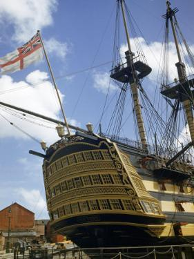 Low Angle View of the Stern of HMS Victory by B. Anthony Stewart