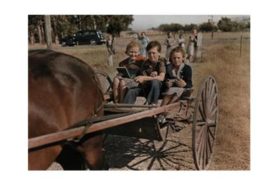 Schoolchildren Heading Home from School in a Horse-Drawn Carriage by B. Anthony Stewart