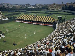Spectators Crowd Grandstands During 1950 Davis Cup Tennis Competition by B. Anthony Stewart