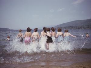 Women Splashing into Lake George by B. Anthony Stewart