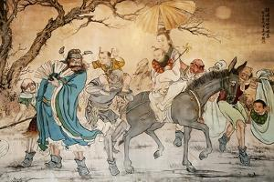 Chinese Classic Wall Drawing by B.B. Xie