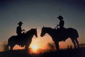 Silhouetted Cowboys by B & C Gillingham