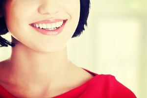 Beautiful Woman with Her Perfect Straight White Teeth. by B-D-S