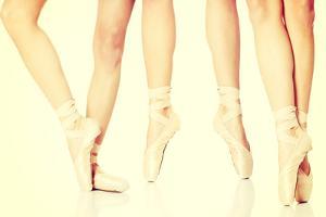 Detail of Ballet Dancer's Feet by B-D-S