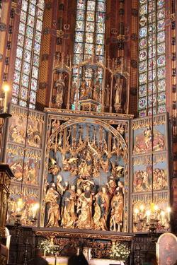 Wit Stwosz Altar in Mariacki Church,Krakow, Poland by B-D-S