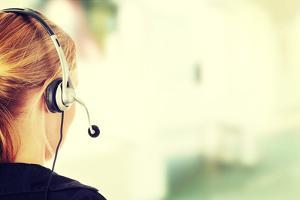 Young Beautiful Call Center Worker by B-D-S