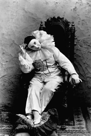 Pilar Morin in Clown Costume