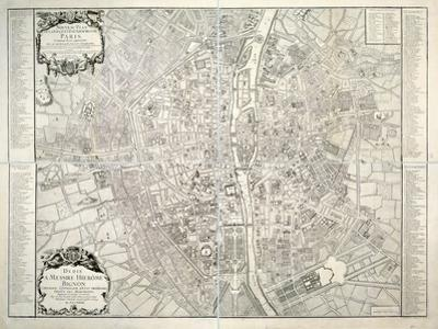 Map of Paris, 1723 by B. Jaillot